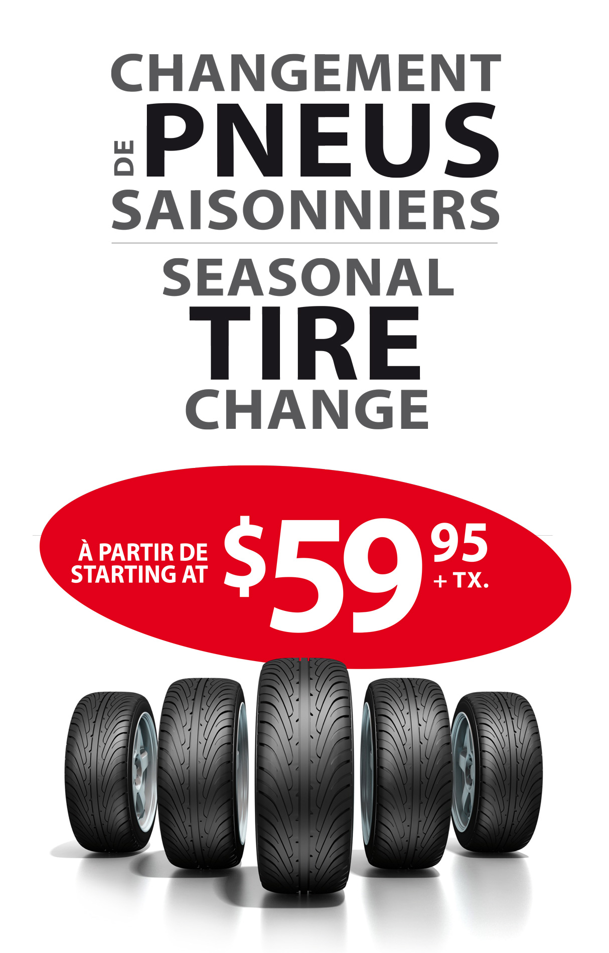 Promotion changement de pneus garage Duratech